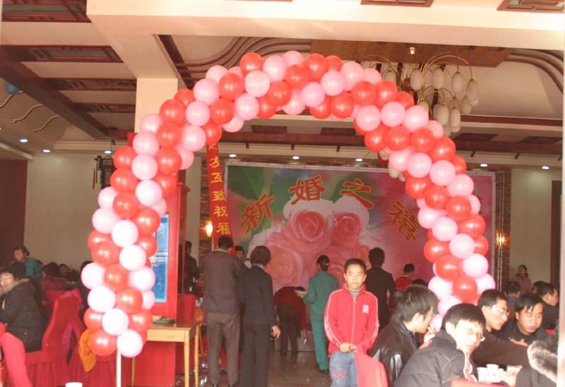 郑州气球编织,金布装饰