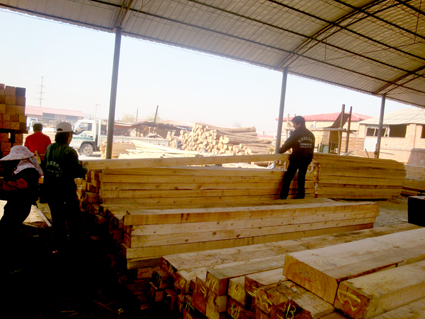 郑州防腐木厂家图片