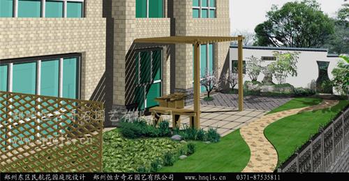 郑州小庭院设计 中式庭院设计