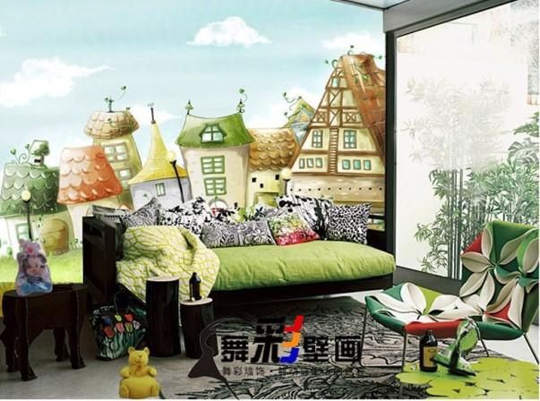 油画风景壁画/欧式风景墙纸壁画/舞彩家居