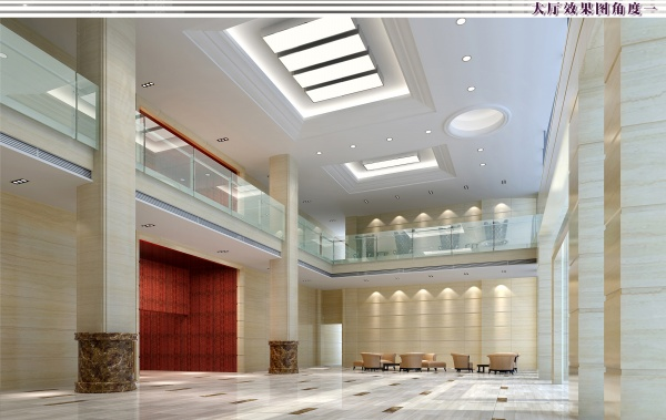 郑州办公楼大厅设计装修