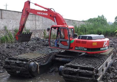 大连庄河水路挖掘机出租厂家
