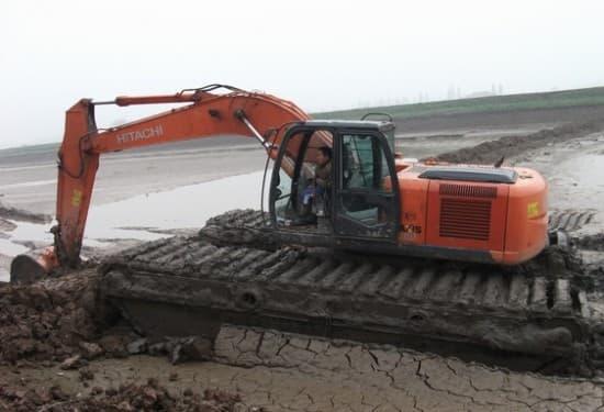 泉州石狮水陆两用挖机租赁