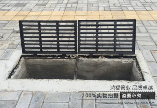 茂名高州球墨铸铁雨水口重量-鸿福管业雨水单箅订购电话:0635-2126889图片