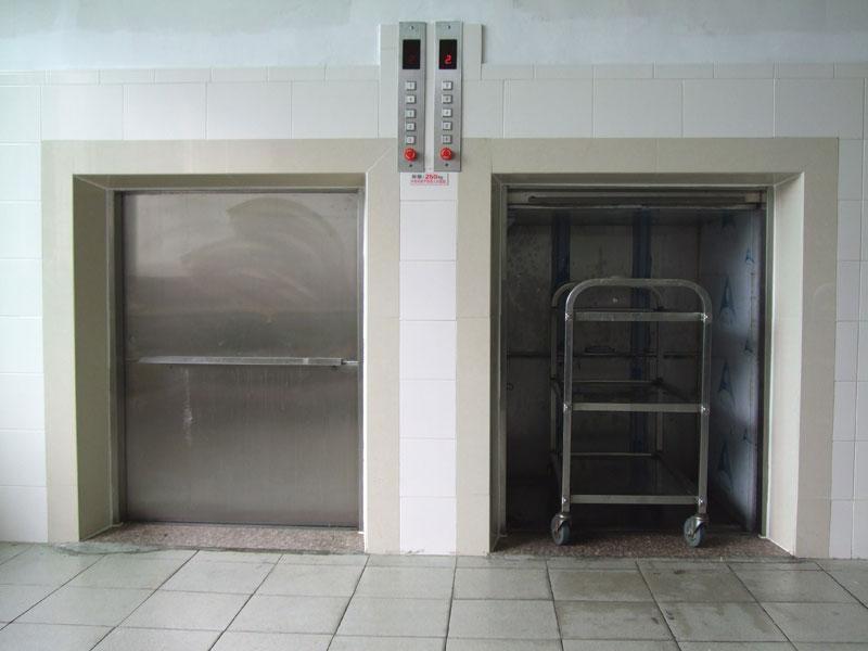 《鲁山饭店传菜梯。》/《山阳酒店传菜机。》