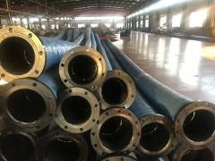 生产DN800大口径吸排污水胶管法兰疏浚胶管